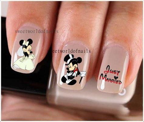 nail art nail water decals transfers nail wraps wedding nail art wedding nails mickey minnie
