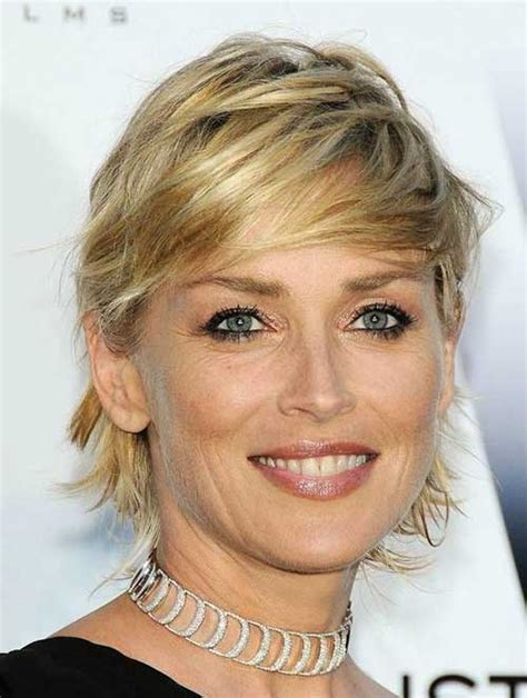 sharon stone short hair on round face 20 short hair for round faces short hairstyles 2017