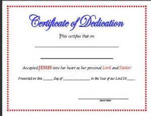 dedication certificate template certificate of dedication