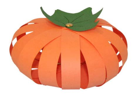 Pumpkin Paper Craft - paper pumpkin craft