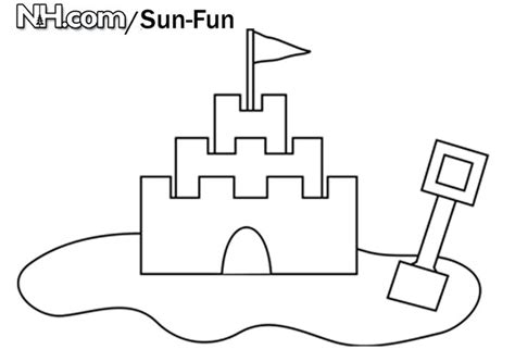 coloring page of sand castle sand castle fun coloring page zendoodling coloring pages