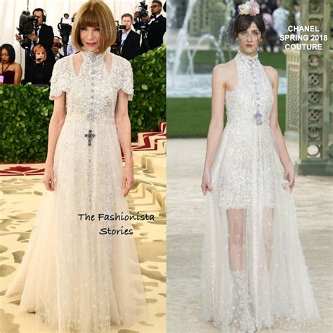 Who Wore Chanel Couture Better Wintour Or by Wintour In Chanel Couture At The 2018 Met Gala