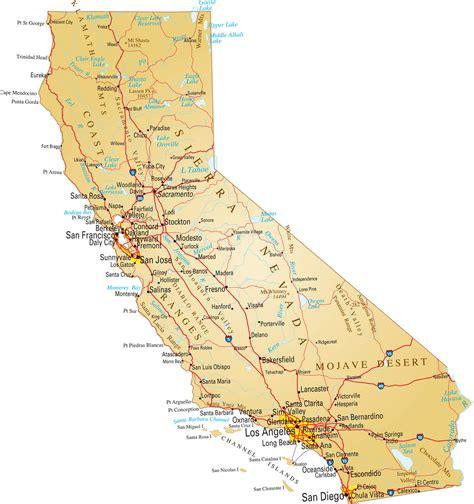 california map facts california political map