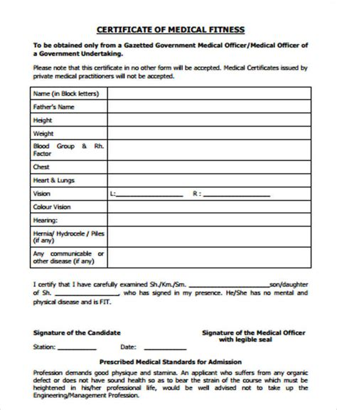 medical certificate form medical leave certificate