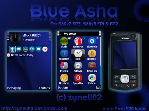 themes nokia n72 blue asha by zynell02 on deviantart