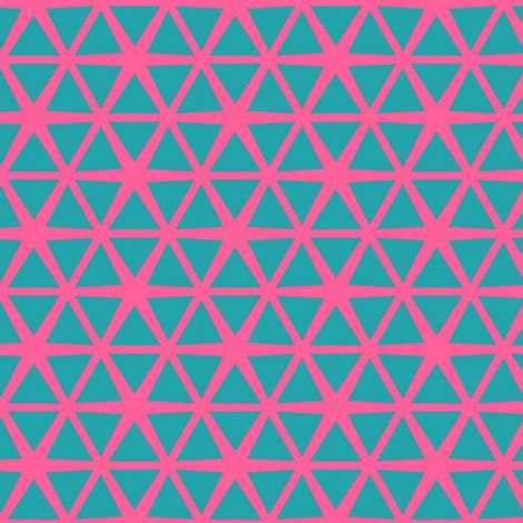 texture pattern recognition triangles blue on pink fabric by stoflab on spoonflower