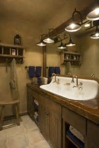 fixtures bathroom vanity beautiful home design castiron  sink rustic mountain lodge bathroom wood countertop
