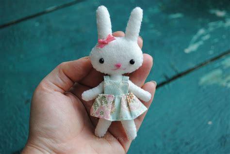 pattern for felt rabbit felt doll pattern tiny rabbit doll by delilahiris craftsy