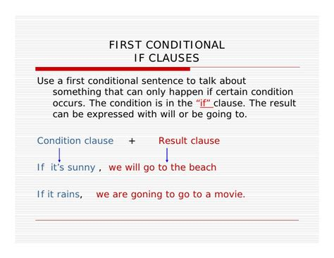 first conditionals first conditional