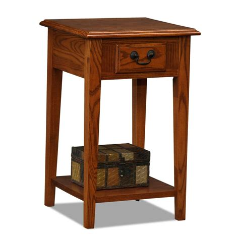 amazon com leick chair side end table medium oak finish