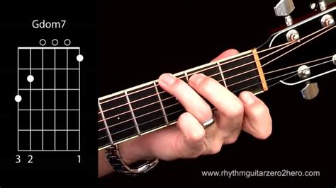 Acoustic Guitar Chords - Learn To Play G7 A.K.A G Dominant ... G 7 Chord Guitar