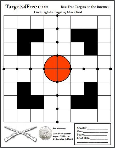 printable grid shooting targets targets4free page 2 of 7 print your own shooting