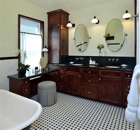 Vintage Black And White Bathroom Ideas Before Amp After This Vintage Inspired Master Bathroom Is
