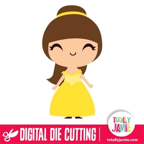 Kitchen Themes Ideas Cute Princess Belle Totallyjamie Svg Cut Files Graphic