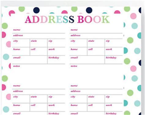 cute printable address book template address book deals on 1001 blocks