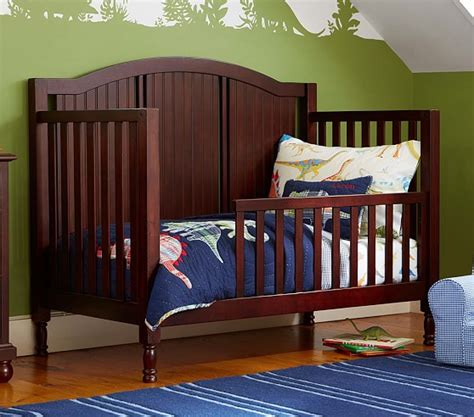when to convert crib to toddler bed catalina toddler bed conversion kit pottery barn kids