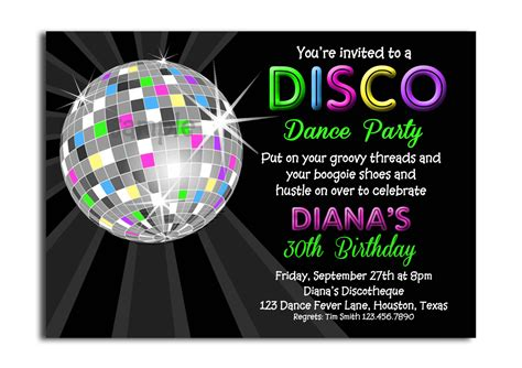 disco template disco invitations theruntime