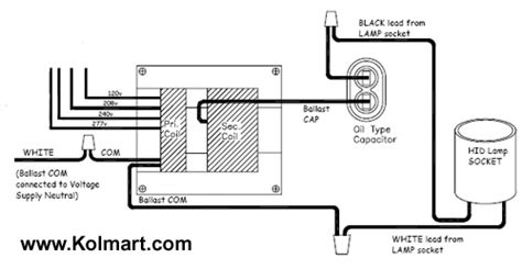 multitap hid ballast wiring diagram