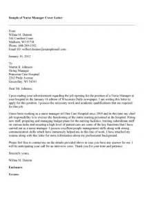 27 Effective Cover Letter For Nurse Manager Job Vntask Com