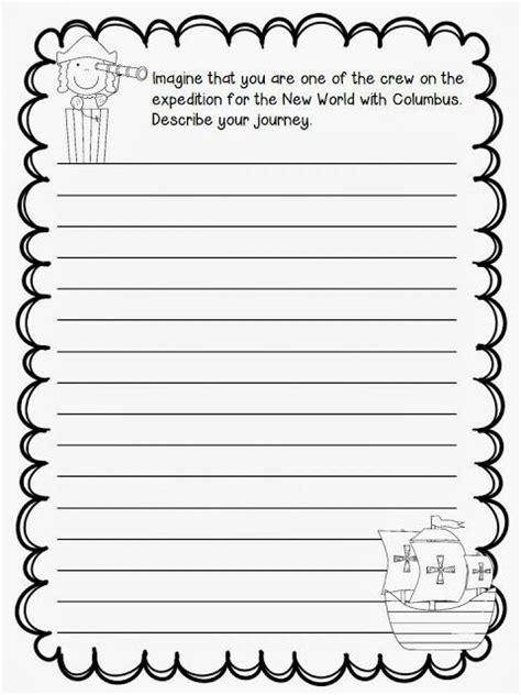christopher columbus writing paper christopher columbus freebie to teach reading writing