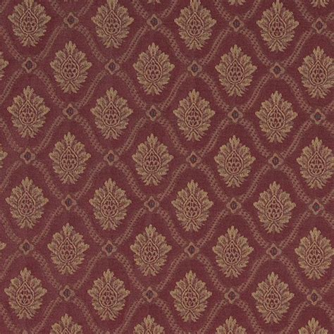 medallion upholstery fabric a489 burgundy and gold two toned brocade medallion