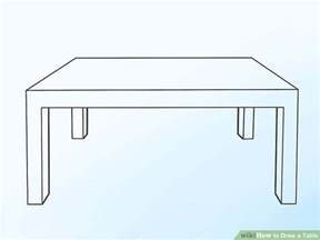 How To Draw A Desk Step By Step by 2 Easy Ways To Draw A Table With Pictures Wikihow