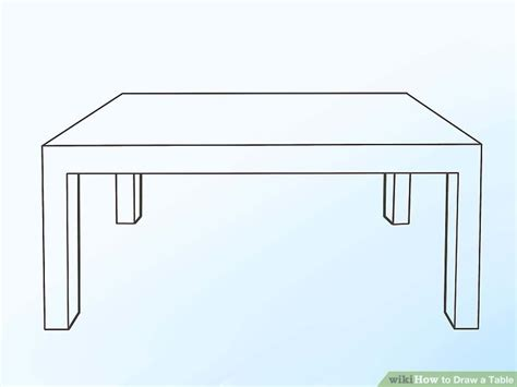 stuhl 3d zeichnen 2 easy ways to draw a table with pictures wikihow