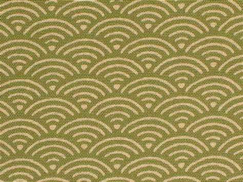 japanese pattern wave japanese cotton kimono fabric green dot wave pattern a