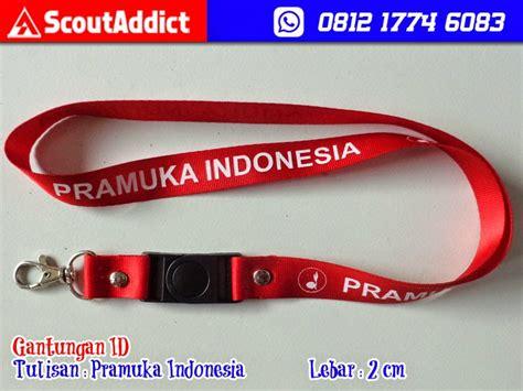 Wing Pramuka Warna gantungan id card pramuka indonesia kedai atribut