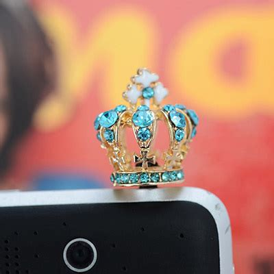 personalized blue decorated crown shape design asujewelry