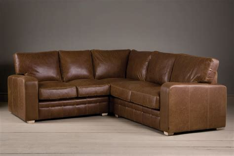 leather corner couch the square arm brown leather corner sofa by indigo furniture