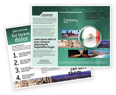 Mexico Brochure Template by Mexico Brochure Template Design And Layout Now