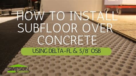 plastic subfloor for basement how to install a subfloor on concrete