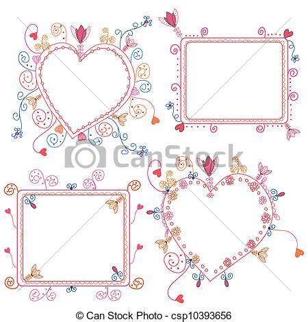 decorazioni cornici archivio illustrazioni di cornici floreale set