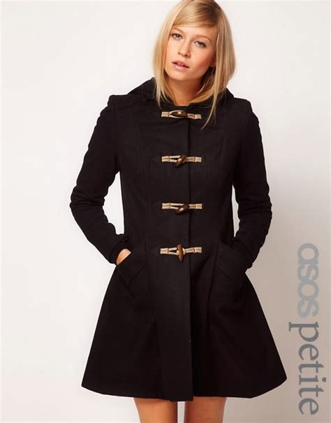 Jaspria Jas Exclusive Blue Navy asos asos exclusive hooded swing duffle coat