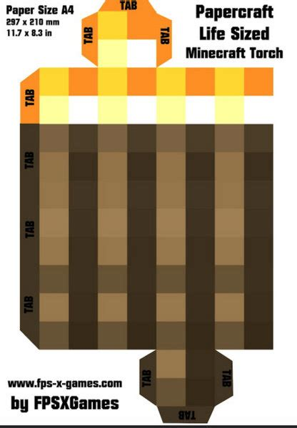 Minecraft Folding Paper - minecraft torch with flickering light be a