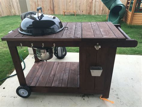 custom weber bbq grill cart with ice chest weber grill