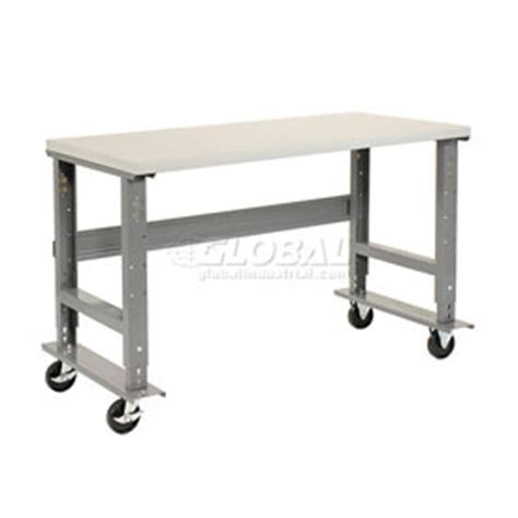 height adjustable work bench adjustable height mobile work benches at globalindustrial com