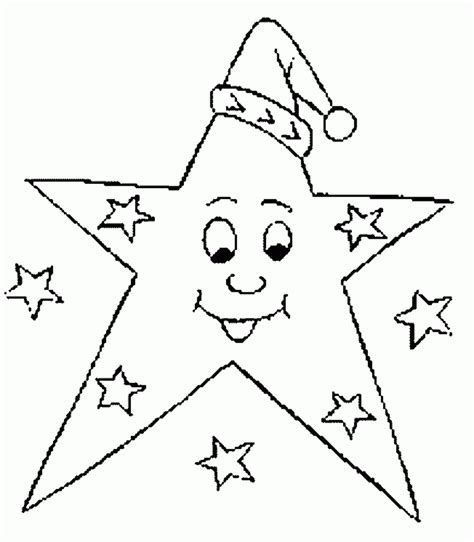 Star Coloring Pages Good Night Print
