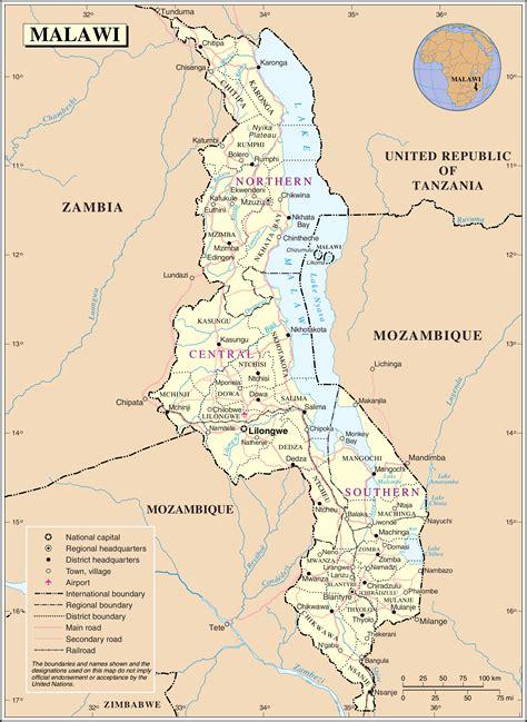 malawi map file un malawi png