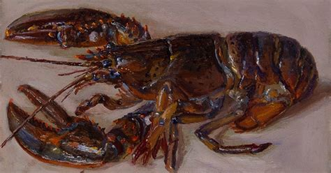 Sale Syomai Seafood Wei Wang wang a lobster daily painting seafood still painting contemorary