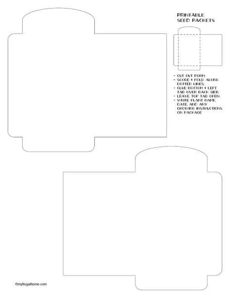 blank seed packet template free printable seed packets