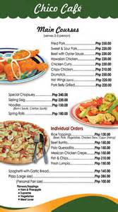 Hotel Menu Templates by Restaurants Menu Bohol Hotel Dao Hotel