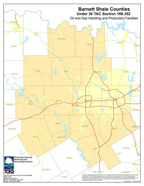in texas map barnett shale maps and charts tceq www tceq texas gov