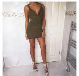 Duvet Green Dress Green Dress V Neck Dress Party Dress Formal