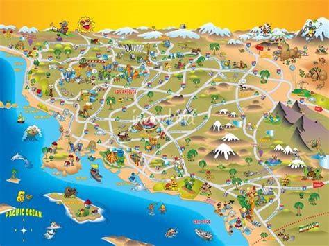 california tourist attractions map maps update 1300989 california tourist attractions map