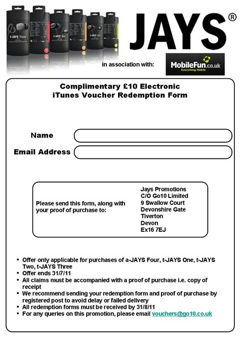 printable itunes vouchers get a 163 10 itunes voucher when you purchase any pair of t