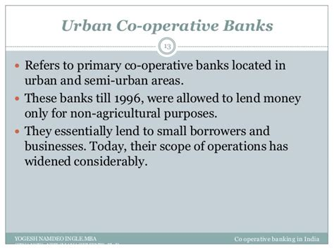 Scope Of Mba In Operations by Co Operative Banking In India