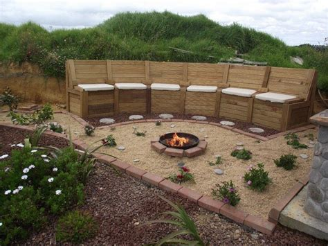 how to build a pit seating with storage diy