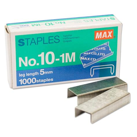 Isi Staples No 10 isi staples max no 10 1m stapler steples hekter kecil
